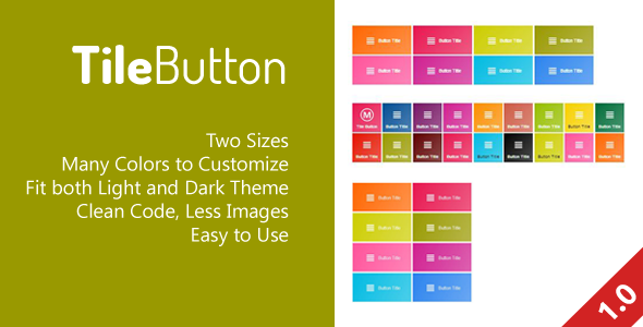 Tile Buttons CSS for Metro UI Themes